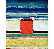 Kazimir Malevich - Red House  Photographic Print