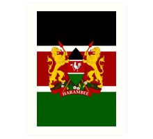 KENYA-COAT OF ARMS Art Print