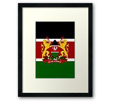 KENYA-COAT OF ARMS Framed Print