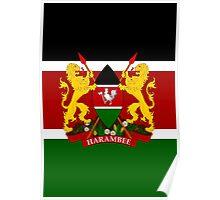 KENYA-COAT OF ARMS Poster