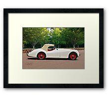 Vintage Jaguar XK120 Roadster Framed Print
