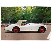 Vintage Jaguar XK120 Roadster Poster