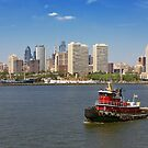 City - Camden, NJ - The city of Philadelphia by Mike  Savad