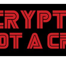 MR. ROBOT Encryption is not a Crime Sticker