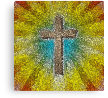 Cool Colorful Cross Canvas Print