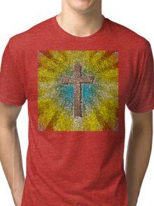 Cool Colorful Cross Tri-blend T-Shirt