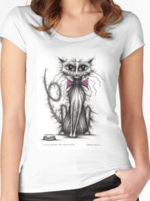Little Fluffy the cute kitty Women's Fitted Scoop T-Shirt