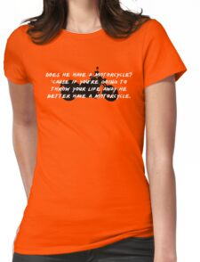 Gilmore Girls – does he have a motorcycle? Womens Fitted T-Shirt