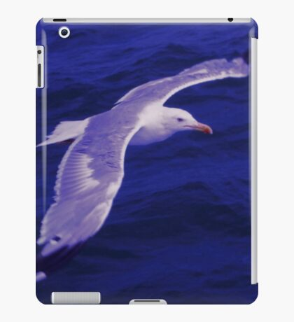 Seagull Flying Over the Sea iPad Case/Skin