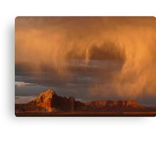 Sunset and Rain Canvas Print