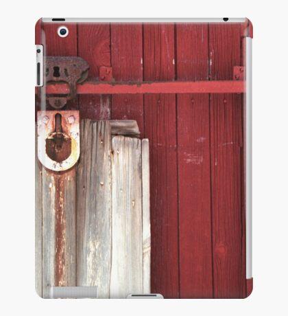 Rustic Rural Country Red Barn Door iPad Case/Skin