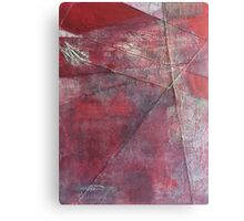 Through a Field of Wounded Hearts - Mixed-Media Abstract Painting, Raw Red Canvas Print