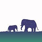 Elephant Silhouette (Reverse) by sloganart