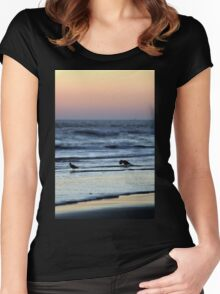 Sunset Birds Women's Fitted Scoop T-Shirt