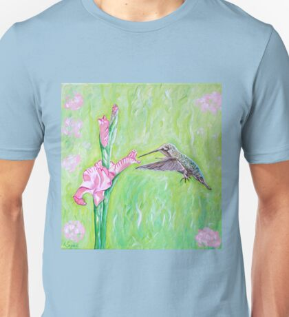 Hummingbird and Gladioli Unisex T-Shirt