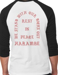 RIP Harambe Kanye West Style Men's Baseball ¾ T-Shirt