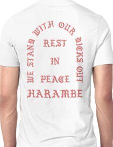 RIP Harambe Kanye West Style Unisex T-Shirt