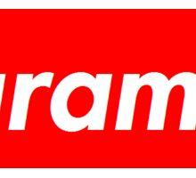 Harambe red box logo Sticker