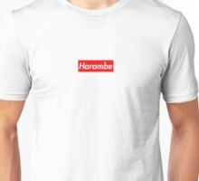 Harambe red box logo Unisex T-Shirt