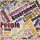 Declaration of Independence Word Cloud by morningdance