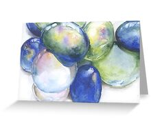 Watercolor Decorative Glass Gems Greeting Card