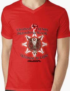 United With Standing Rock Sioux - Water is Life Mens V-Neck T-Shirt