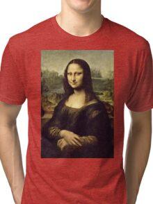 Leonardo Da Vinci - La Joconde, Portrait De Monna Lisa  Tri-blend T-Shirt