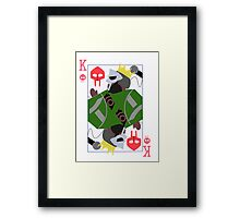 King Geedorah Playing Card Framed Print