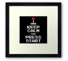Keep Calm & Press Start Framed Print