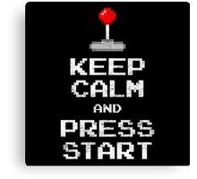 Keep Calm & Press Start Canvas Print