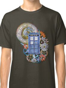 Mosaic TARDIS with Clock Classic T-Shirt
