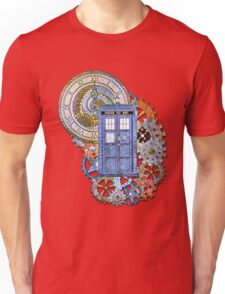 Mosaic TARDIS with Clock Unisex T-Shirt