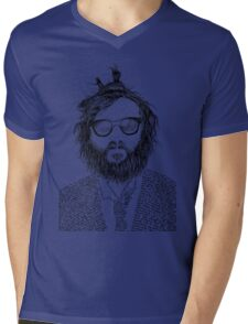 Rapper Joaquin Phoenix Mens V-Neck T-Shirt