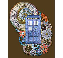 Mosaic TARDIS with Clock Photographic Print