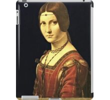 Leonardo Da Vinci - Portrait Of A Lady From The Court Of Milan 1495  iPad Case/Skin