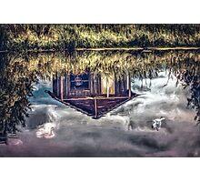 Pond Cabin Photographic Print