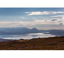 The Isle of Skye From The Applecross Pass Photographic Print