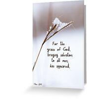 Grace brought Salvation ~ Titus 2:11 Greeting Card