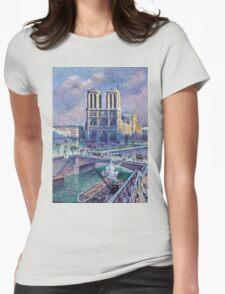 Maximilien Luce Notre Dame De Paris 1900  Womens Fitted T-Shirt