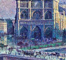 Maximilien Luce Notre Dame De Paris 1900  Sticker