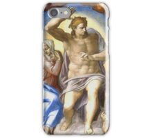 Michelangelo - Cristo Juiz iPhone Case/Skin