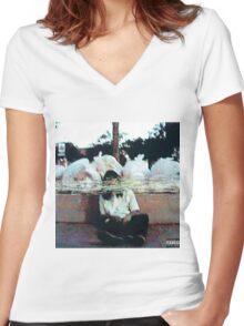SESH garbage mixtape cover Women's Fitted V-Neck T-Shirt