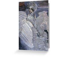 Mikhail Vrubel - Swan Princess 1900 Greeting Card