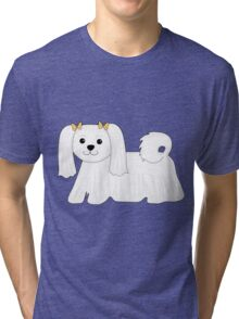 Maltese Dog Tri-blend T-Shirt