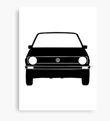 VW Golf MK1 Front Black White Canvas Print