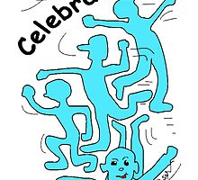 Celebrate Light Blue by Mike HobsoN