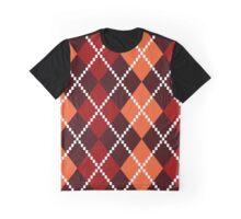 Retro colorful colorful argile pattern - orange and red Graphic T-Shirt