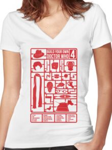 Build Your Own Doctor Who 4 Women's Fitted V-Neck T-Shirt