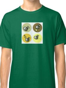 Vector set of happy bee characters Classic T-Shirt