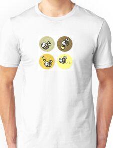 Vector set of happy bee characters Unisex T-Shirt